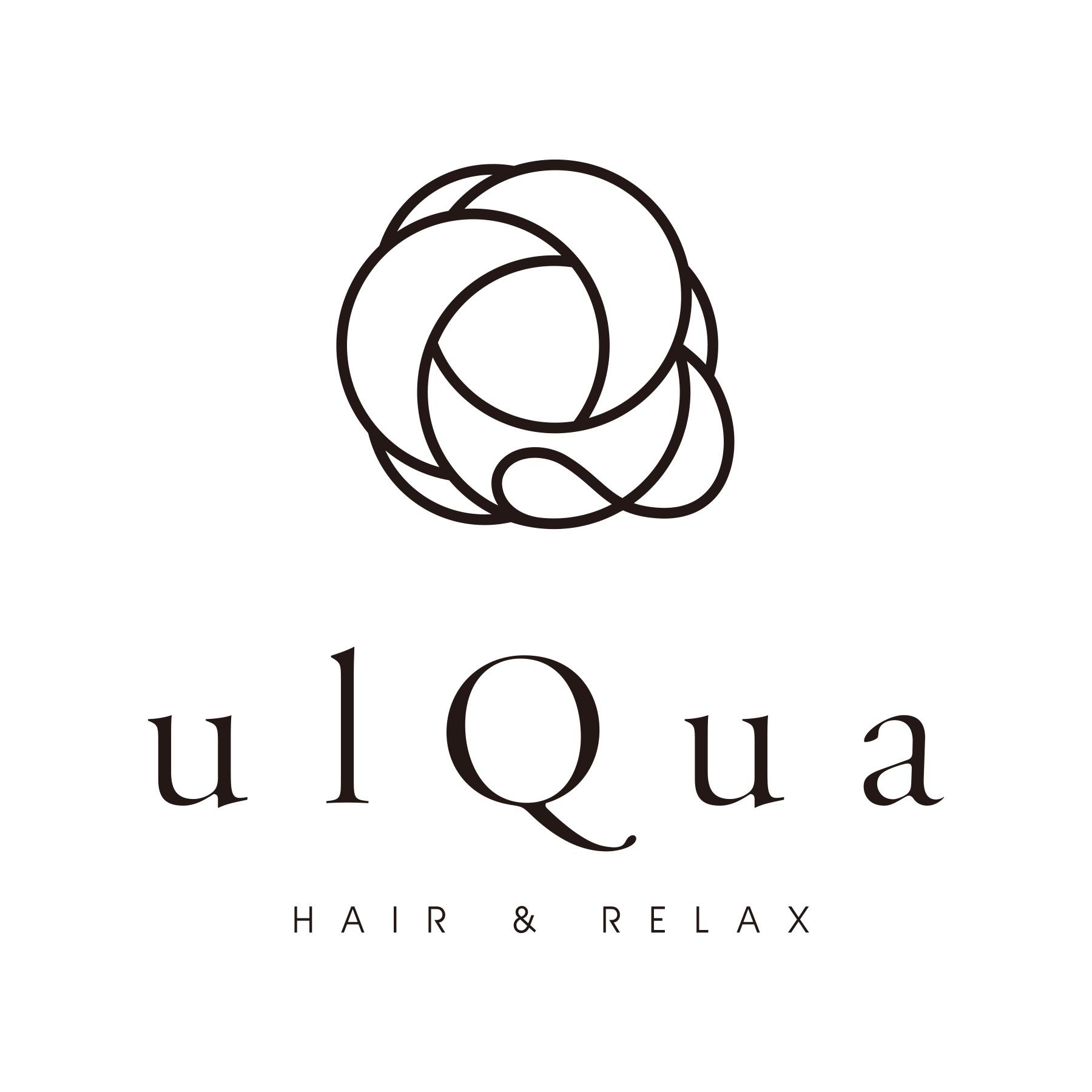 ulQua,美容院,ロゴ