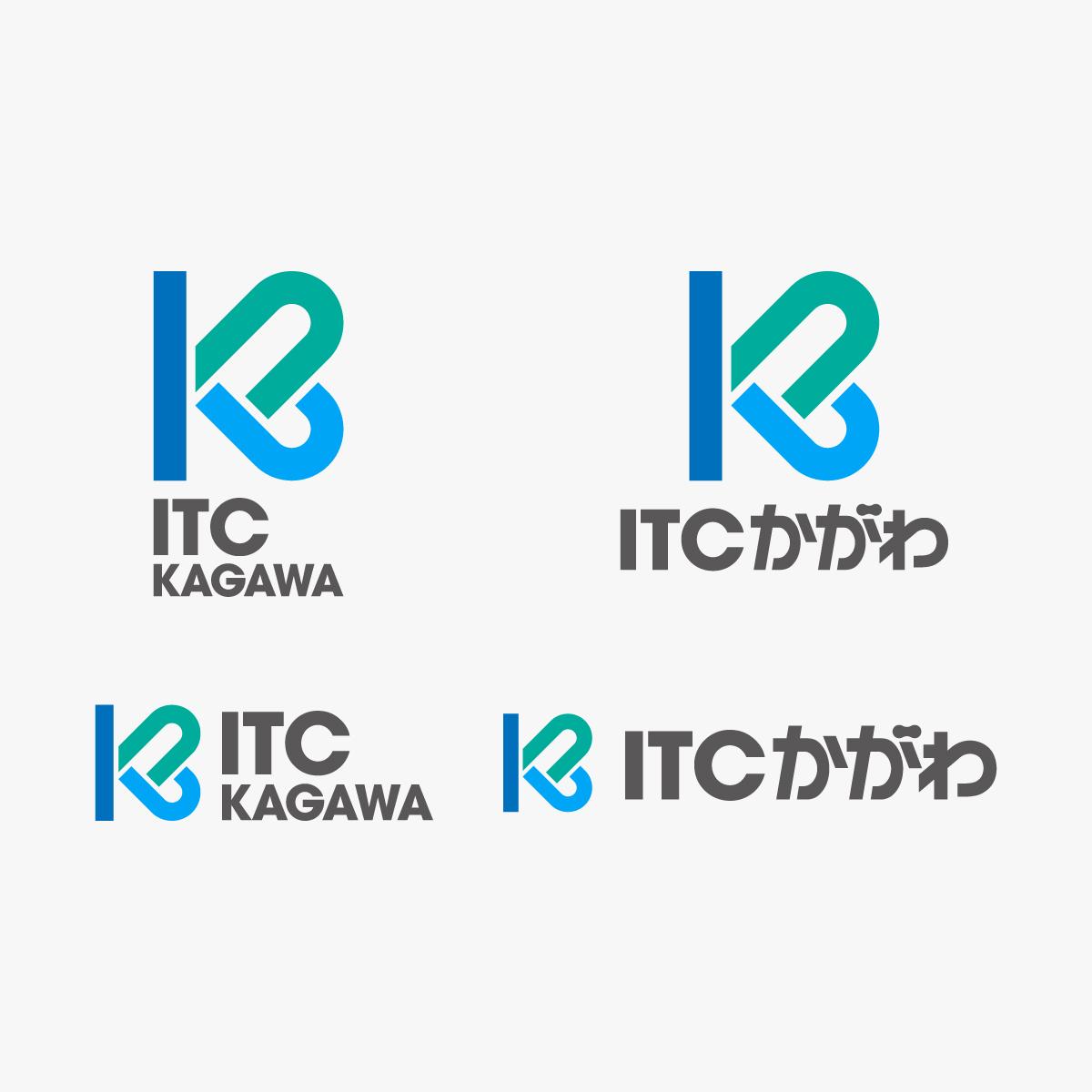ITCかがわ,香川,ロゴマーク,デザイン